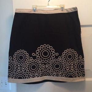 Boden embroidered skirt, 12R